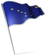 Flag pin - Alaska (USA)