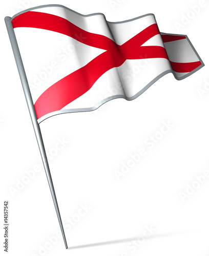 Flag pin - Alabama (USA)
