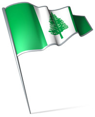 Flag pin - Norfolk Island