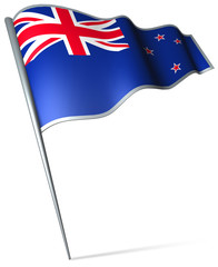 Flag pin - New Zealand