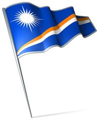 Flag pin - Marshall Islands