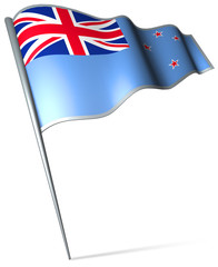 Flag pin - Ross Dependency (NZ)