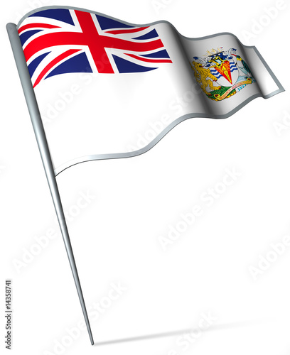 Flag pin - British Antarctic Territory (UK)