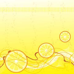 Hintergrund mit Zitronen