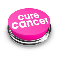 Cure Cancer - Pink Button