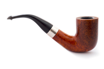 Smoking Pipe on white in profile