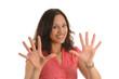 Leinwanddruck Bild - alle zehn finger
