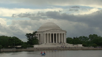 Jefferson Memorial Wide Shot Timelapse HD
