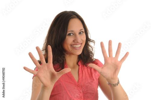 Leinwanddruck Bild alle zehn finger
