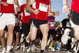 Marathon runners poster