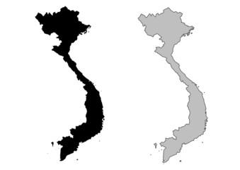 Vietnam vector map