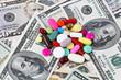 Kosten für Gesundheit, Tabletten und Dollar Geldscheine