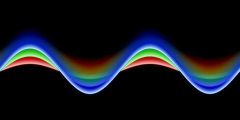 RGB Wellen auf Schwarz II