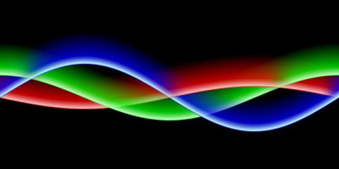 RGB Wellen aus schwarz