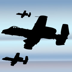 avion caza a-10 thunderbolt