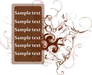 Floral vector e-card