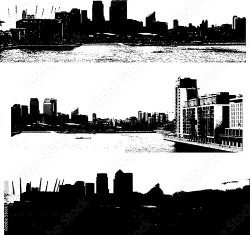london skyline vector. grunge london skyline