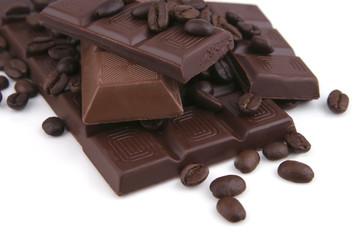 dark and milky chocolate bar