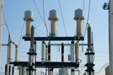 view to high voltage substation poster