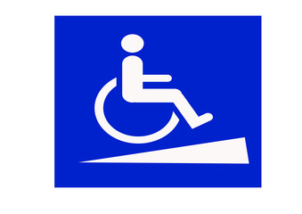 disabled ramp sign