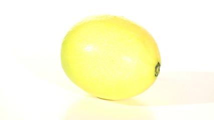 Lemon isolated on white seamless loop - HD
