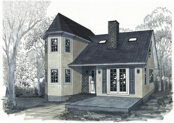 住宅パース、北ヨーロッパ、北アメリカ