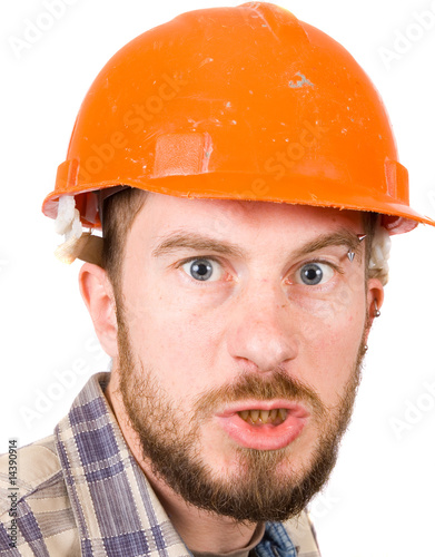 man with safety helmet