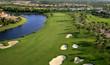 Leinwandbild Motiv Florida Golf Course Flyover
