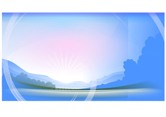 morgenröte, landscape in inkscape
