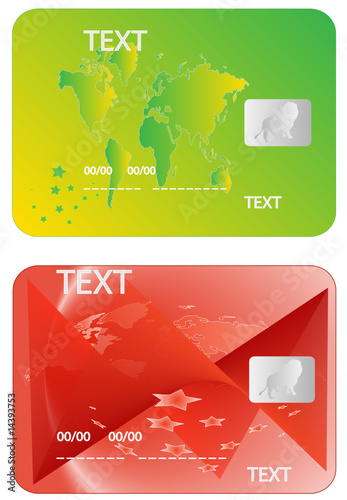 Illustration of banking card