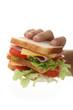 servir un sandwich dans un fast food
