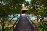 Pathway to water bungalow poster