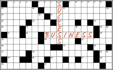 cruciverba business vector