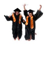 Gradutes jumping