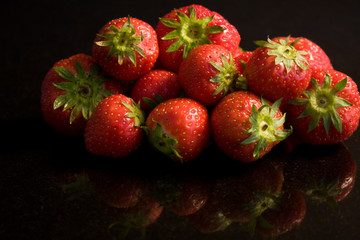 Reflected Strawberries