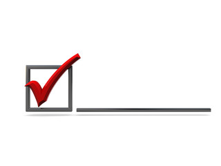 checkbox with red tick