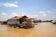 Village flottant sur le lac Tonle Sap