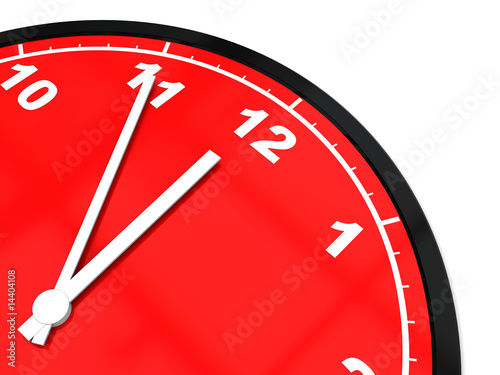 Leinwanddruck Bild clock