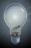 Light bulb with a coal fired electricity plant
