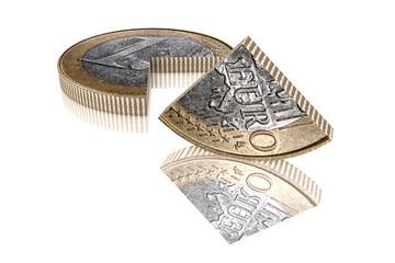 Euro Viertel hochkant reflex