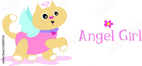 Angel Girl Cat
