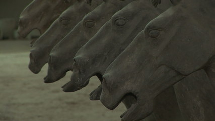 Terra Cotta Horses Coming into Focus