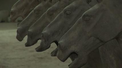 Terra Cotta Horses Coming into Focus