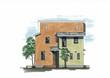 住宅パース 立面デザイン