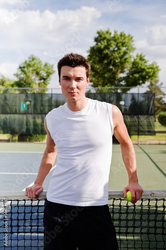 Athletic Male at the tennis court