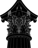 Greek Corinthian Column Vector 03 poster
