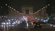 Champs Elysée at night, Paris.