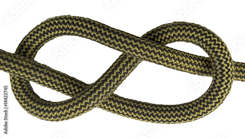 figure of eight sailing knot isolated on white
