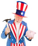 Uncle Sam Desperate for Cash poster
