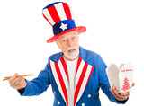 Uncle Sam Eats Chinese poster